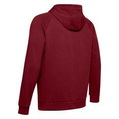 Under Armour Mens Rival Logo Fleece Hoodie Red XS, Red, rebel_hi-res