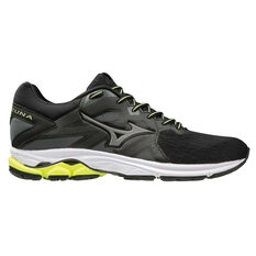 Mizuno Wave Kizuna Mens Running Shoes Black / Yellow US 8, Black / Yellow, rebel_hi-res