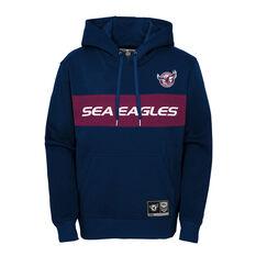 Manly Warringah Sea Eagles 2021 Mens Hoodie Navy S, Navy, rebel_hi-res