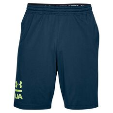 Under Armour Mens Mode Kit 1 Graphic Training Shorts Navy / Lime S Adult, Navy / Lime, rebel_hi-res