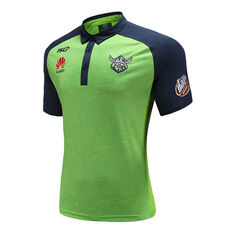 Canberra Raiders 2020 Mens Performance Polo Green S, Green, rebel_hi-res