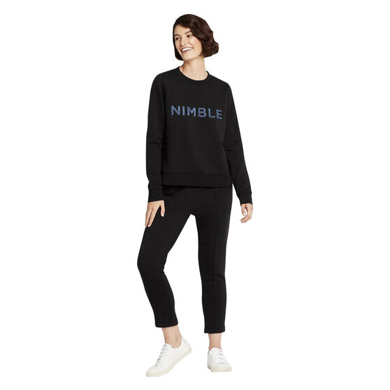 Nimble Womens Chill Time Trackpants, Black, rebel_hi-res