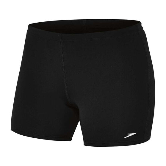 Speedo Womens Swim Sport Short, Black, rebel_hi-res