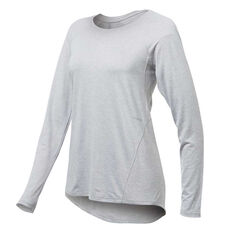 Ell & Voo Womens Sophie Long Sleeve Tee Siver XS, Siver, rebel_hi-res