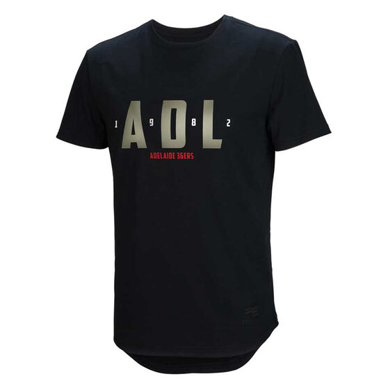 Adelaide 36ers 2019/20 Mens Lifestyle Tee Black S, Black, rebel_hi-res
