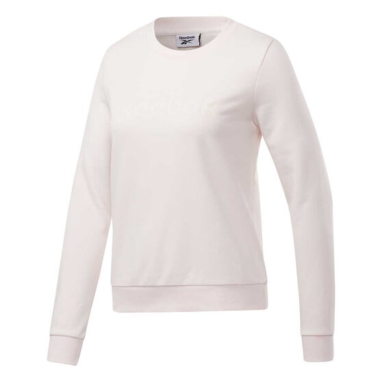 Reebok Womens Core Linear Crew Sweatshirt, White, rebel_hi-res