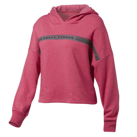 Under Armour Womens Taped Fleece Hoodie, , rebel_hi-res