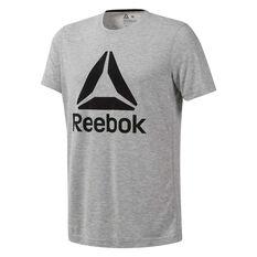 Reebok Mens Workout Ready Supremium 2.0 Graphic Tee Grey XS, Grey, rebel_hi-res