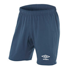 Umbro Kids Junior League Knit Shorts Navy 6, Navy, rebel_hi-res