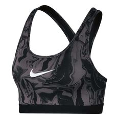 Nike Womens Classic Painted Marble Sports Bra Grey  / Black XS Adult, Grey  / Black, rebel_hi-res