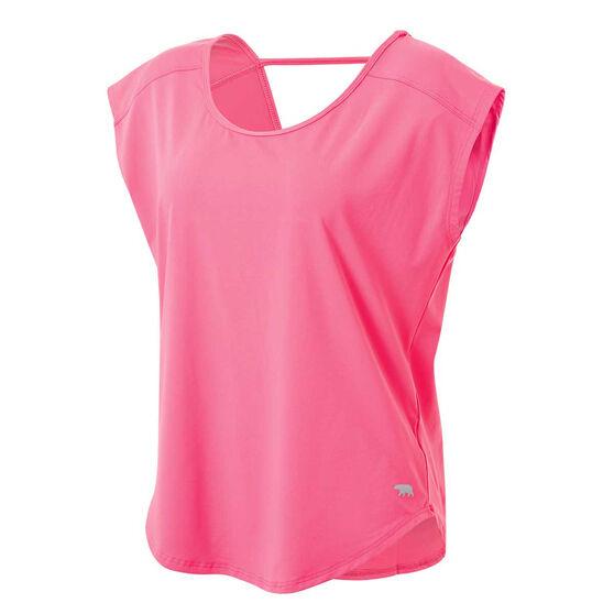 Running Bare Womens Plie Pulse Workout Tee, , rebel_hi-res