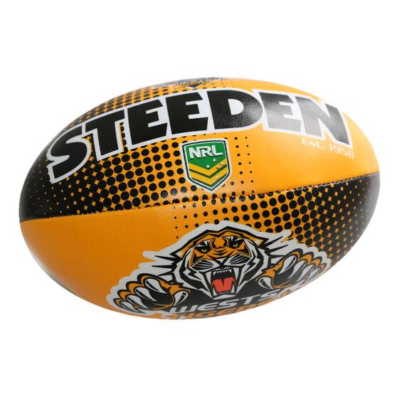 Gray Nicolls NRL Wests Tigers Sponge Rugby Ball, , rebel_hi-res