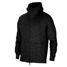 Nike Mens Yoga Full Zip Hoodie Black M, Black, rebel_hi-res