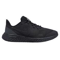 Nike Revolution 5 Kids Running Shoes Black US 4, Black, rebel_hi-res