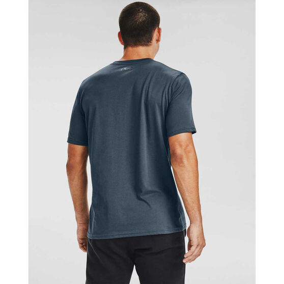Under Armour Mens Sportstyle Left Chest Short Sleeve Tee, Blue, rebel_hi-res