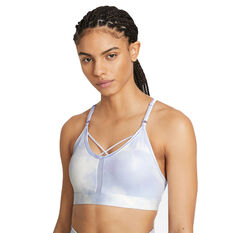 Nike Womens Dri-FIT Indy Icon Clash Padded Sports Bra Blue XS, Blue, rebel_hi-res