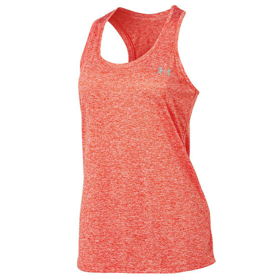 Under Armour Womens Tech Twist Tank, Red, rebel_hi-res