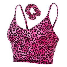 Running Bare Womens Captivate Sports Bra + Scrunchie Print 8, Print, rebel_hi-res