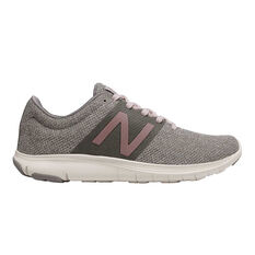 New Balance Koze Womens Running Shoes Grey / Pink US 6, Grey / Pink, rebel_hi-res
