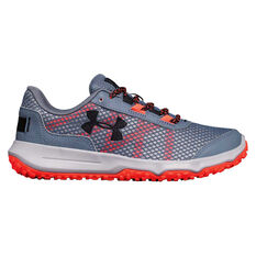 Under Armour Toccoa Womens Trail Running Shoes Grey / Red US 6, Grey / Red, rebel_hi-res