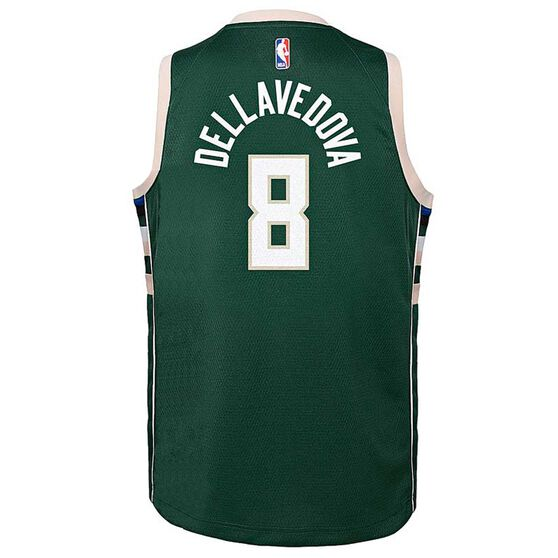 Nike Milwaukee Bucks Matthew Dellavedova Icon 2019 Kids Swingman Jersey Green M, Green, rebel_hi-res