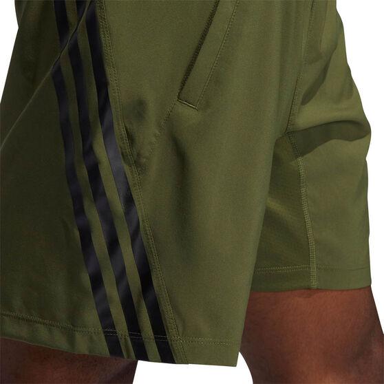 adidas Mens AEROREADY 3-Stripes Shorts, Khaki, rebel_hi-res