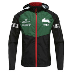 South Sydney Rabbitohs 2020 Mens Wet Weather Jacket, Black, rebel_hi-res