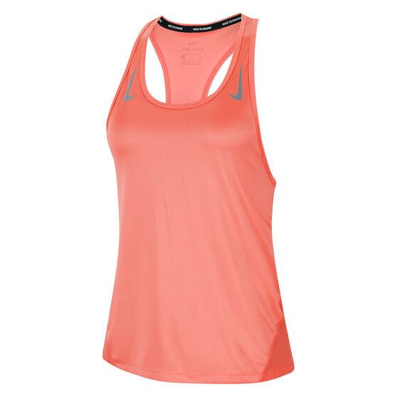 Nike Womens Miler Running Tank Orange M, Orange, rebel_hi-res