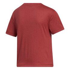 adidas Womens Key Item Knit Tee Red XS, Red, rebel_hi-res