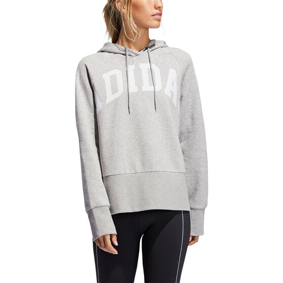 adidas Womens Post Game Arch Hoodie, Grey, rebel_hi-res