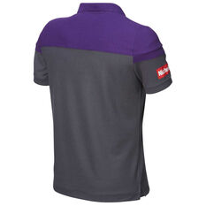 Perth Glory 2018 / 19 Mens Media Polo Purple S, Purple, rebel_hi-res