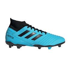 adidas Predator 19.3 Football Boots Blue / Black US Mens 7 / Womens 8, Blue / Black, rebel_hi-res