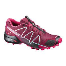 Salomon Speedcross 4 Womens Trail Running Shoes Pink / Grey US 6.5, Pink / Grey, rebel_hi-res