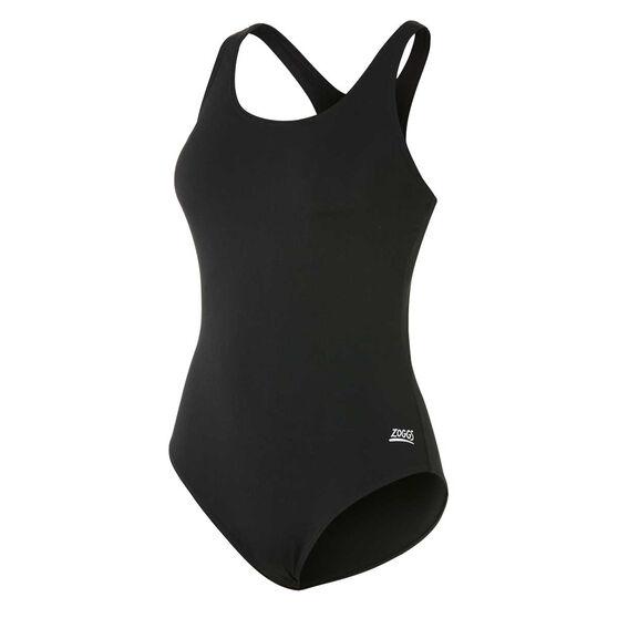 4c55213566a Zoggs Womens Cottesloe Powerback Swimsuit, Black, rebel_hi-res