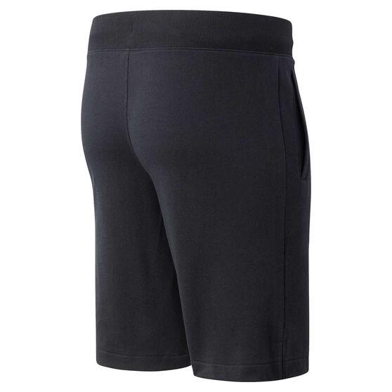 New Balance Mens Classic French Terry Shorts, Black, rebel_hi-res