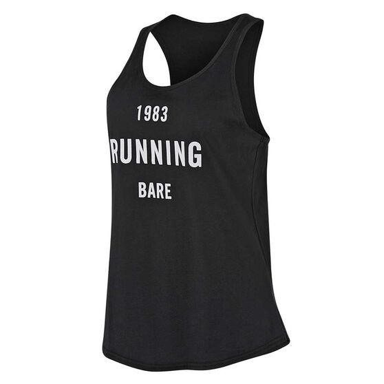 Running Bare Womens Maverick Action Back Tank, White, rebel_hi-res