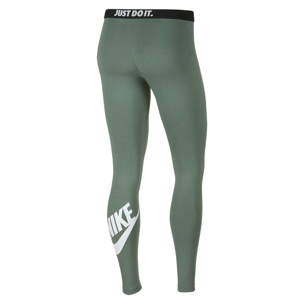 be4af29f2a3fc Nike Womens Leg A See Logo Tights Green / White XL, Green / White,
