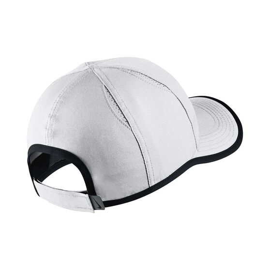 Nike Girls Featherlight Cap White / Black OSFA White / Black OSFA, White / Black, rebel_hi-res