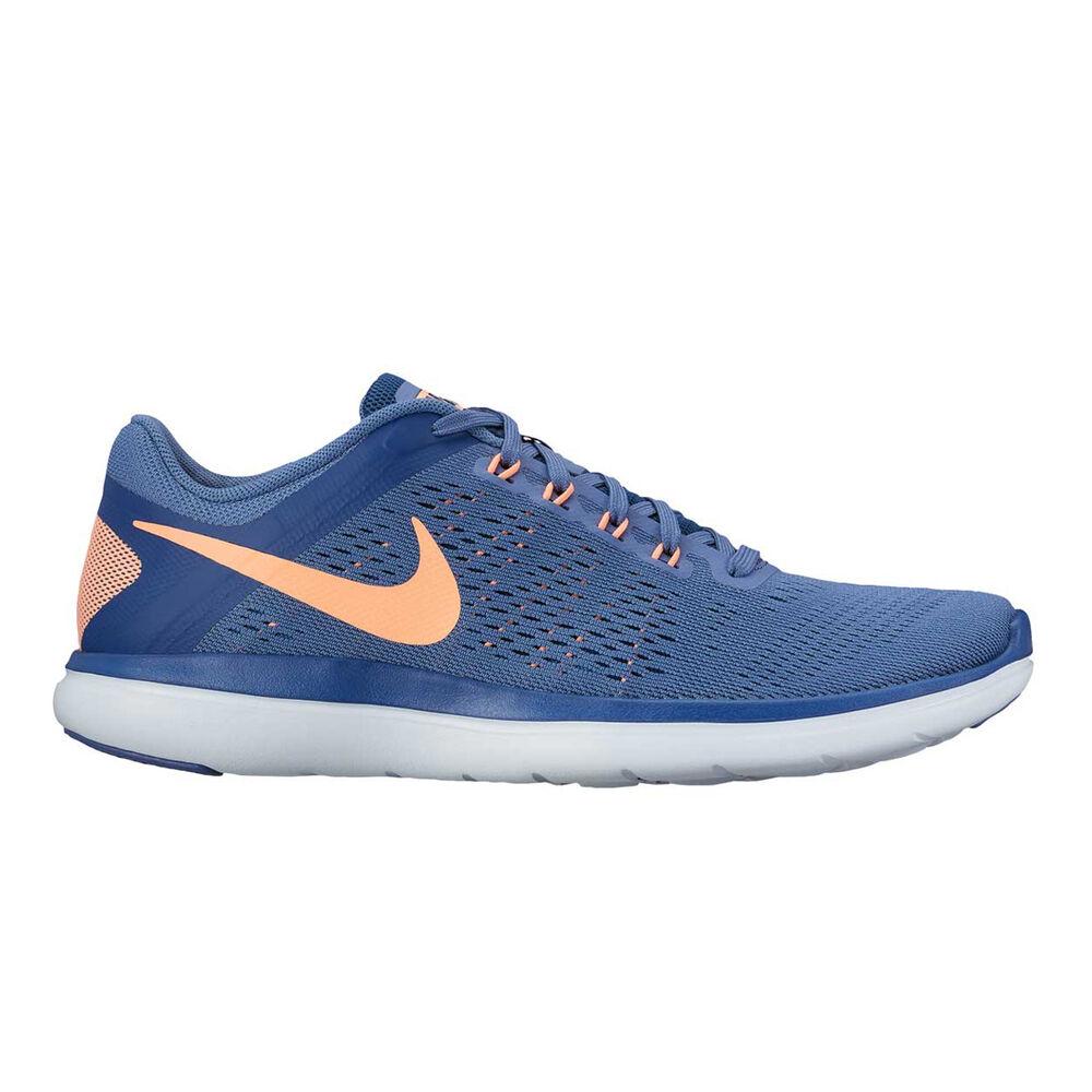 7b654d936369 Nike Flex 2016 RN Womens Running Shoes Blue   Orange US 6