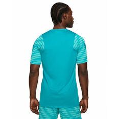 Nike Mens Dri-FIT Strike Short Sleeve Soccer Tee Blue XS, Blue, rebel_hi-res