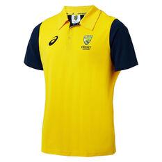 Cricket Australia 2018/19 Mens Supporter Polo Shirt Yellow S, Yellow, rebel_hi-res