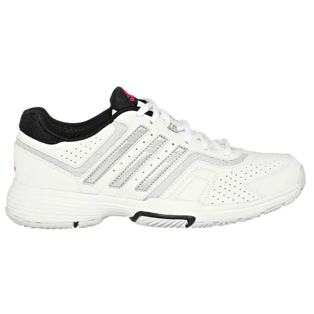 0d0b545de08af2 adidas Barricade Court 2.0 Womens Tennis Shoes White   Silver US 9.5 ...