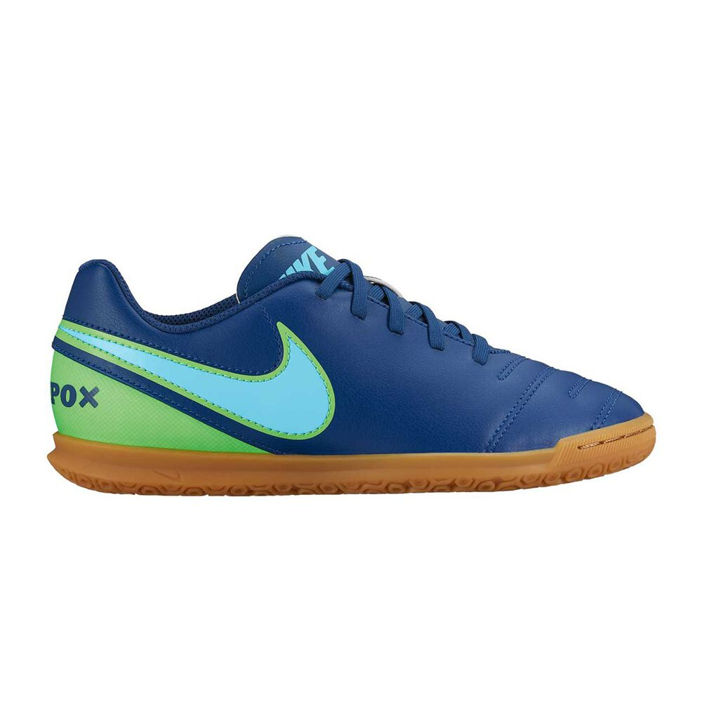cf934d375 Nike Tiempo Rio III Mens Indoor Soccer Shoes Blue / Green US 8.5 Adult, Blue