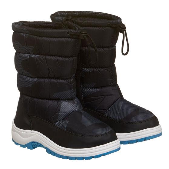 Tahwalhi Wizard Kids Snow Boots, Grey, rebel_hi-res