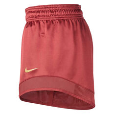 Nike Womens Glam Dunk Running Shorts Rust XS, Rust, rebel_hi-res