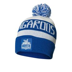 North Melbourne Kangaroos Bar Beanie OSFA, , rebel_hi-res
