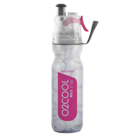 O2Cool Insulated ArcticSqueeze Mist N Sip Water Bottle 530ml Pink, , rebel_hi-res