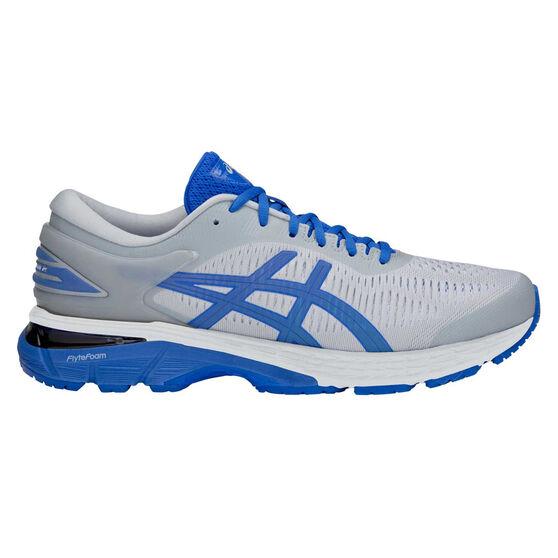 Asics GEL Kayano 25 Lite Show Mens Running Shoes, Grey / Blue, rebel_hi-res