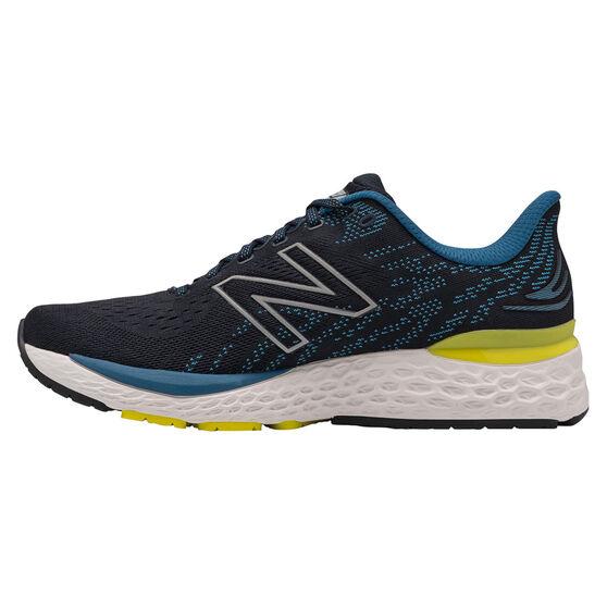 New Balance 880v11 Mens Running Shoes, Navy/Yellow, rebel_hi-res