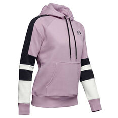 10331f338 Under Armour Womens Rival Fleece LC Logo Hoodie Pink XS, Pink, rebel_hi-res  ...